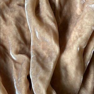 Velvet champagne skirt
